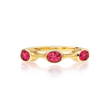 Spinel Oval Stack Ring