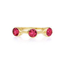 Spinel Round Stack Ring