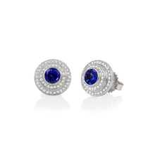 Mini Steps Tanzanite Earrings
