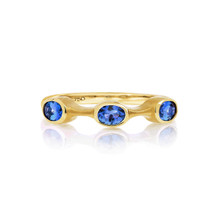 Tanzanite Oval Stack Ring