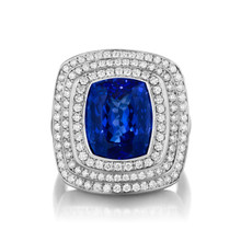 Steps Tanzanite Ring