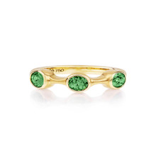 Tsavorite Oval Stack Ring