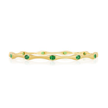 Tsavorite Stack Bangle