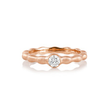 Pebbles Single Burnished Diamond Band in Rose Gold
