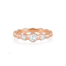 Pebbles Trio Diamond Band in Rose Gold