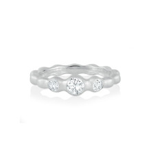 Pebbles Trio Diamond Band in White Gold