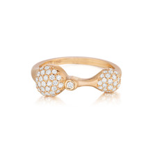 Rose Gold Diamond Sizzle Duo Stack Ring