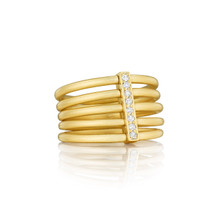 Moderne Penta Ring in Yellow gold