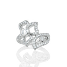 Florette Pave Diamond Wrap-Around Ring