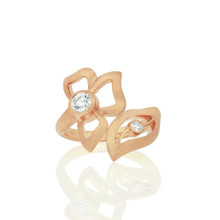 Diamond Wrap-Around Florette Ring in Rose Gold