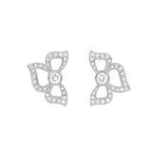 Florette Pave Diamond Stud Earrings