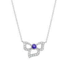 Tanzanite & Diamond Florette Pendant