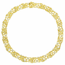 Florette Diamond Wreath Necklace