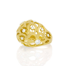 Florette Bombay Ring in Yellow Gold