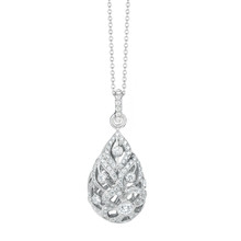 Florette Pave Diamond Drop Pendant
