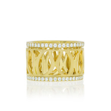 Athena Diamond Trim Spinning Ring