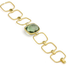 Interlinks Green Quartz Cushion Bracelet