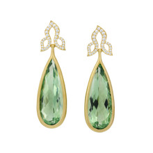 After Dark Green Quartz Drop Earrings