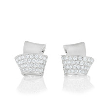 Knot Pave Diamond Stud Earrings