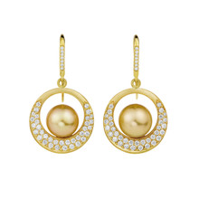 Interlinks Golden Pearl Earrings