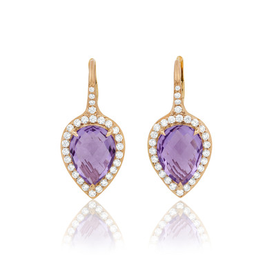 Carey Rose de France Pear Earrings