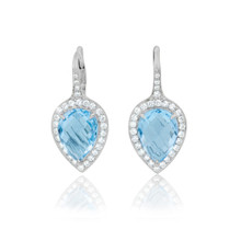 Carey Blue Topaz Pear Earrings