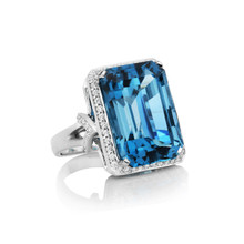 After Dark Blue Topaz Ring