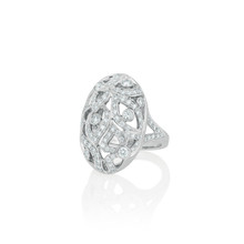 Florette Pave Diamond North-South Ring