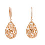 Florette Diamond Earrings in Rose Gold