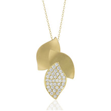 Lotus Pave Diamond Pendant