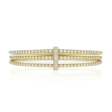 Moderne Pave Diamond Trio Bangle
