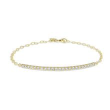 Moderne Pave Diamond Bar Bracelet