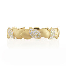 Lotus Pave Diamond Bracelet