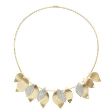 Lotus Pave Diamond Necklace