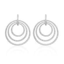 Large Moderne Pave Diamond Earrings