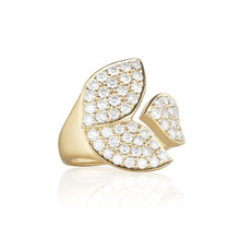 Lotus Pave Diamond Wrap Ring