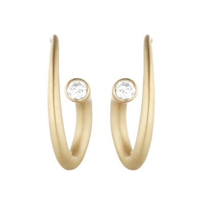 Whirl Diamond Spiral Earrings