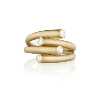 Whirl Duo Diamond Ring