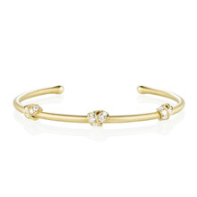 Multi Knot Diamond Bangle