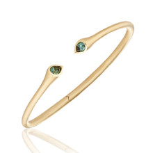 Whirl Green Tourmaline Bangle