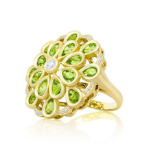 Peridot Marigold After Dark Ring