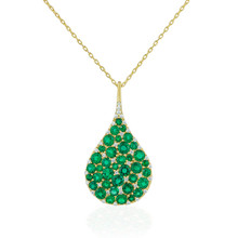 Emerald Tear Drop Bespoke Pendant