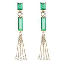 Green Tourmaline Bespoke Earrings