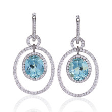 Aquamarine Bespoke Earrings