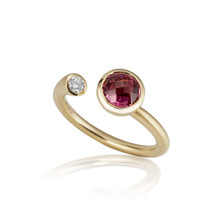 Whirl Pink Tourmaline Martini Ring