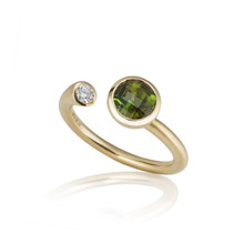 Whirl Green Tourmaline Martini Ring