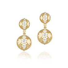Disco Dots Diamond Ball Earrings