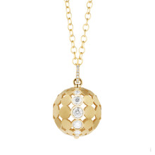 Disco Dots Diamond Ball Pendant
