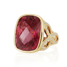 Pink Tourmaline Cushion Bespoke Ring (B