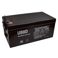UB-8D 12 Volt - 250Ah AGM Battery